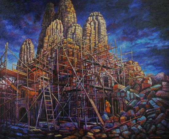 Angkor II, huile sur toile, 60x73cm, 2012