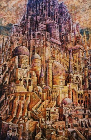 Babel XII, huile sur toile, 90x138, 2002