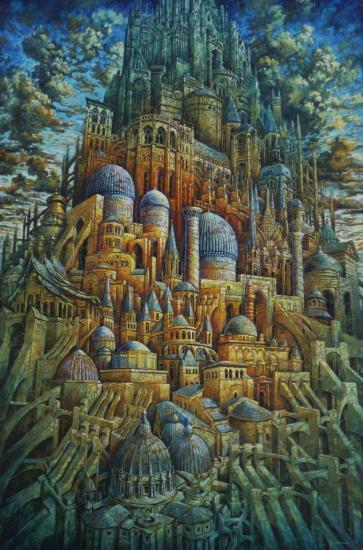 Babel XXIX, huile sur toile, 195x130cm, 2009