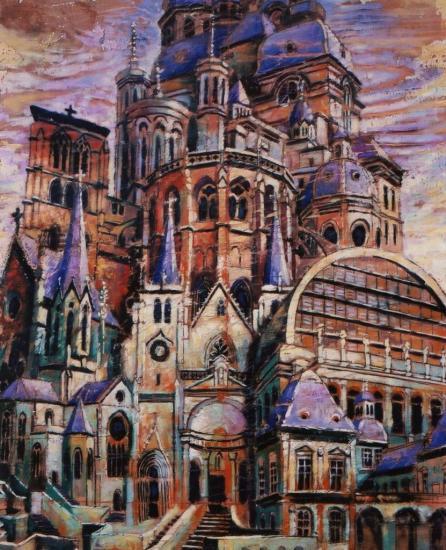 Babelllyon III, huile sur bois, 83x73cm, 2002