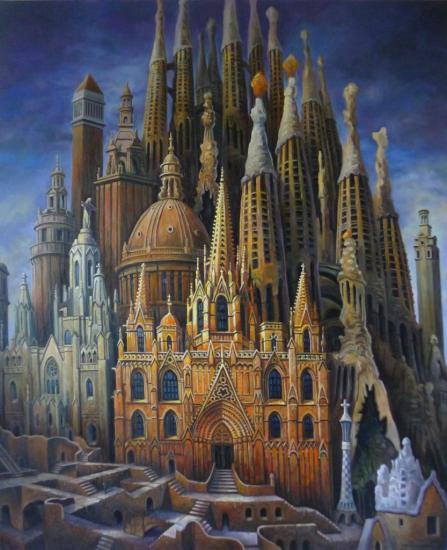 Barcelone, huile sur toile, 73x60cm, 2015