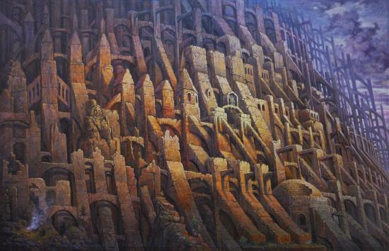 Contreforts, huile sur toile, 65x100cm, 2016