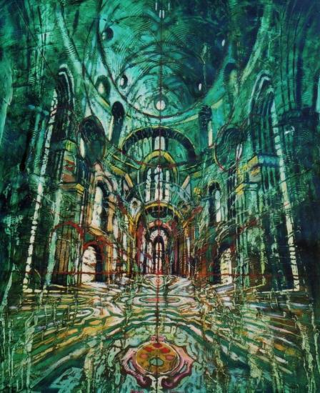 Espace vert, huile sur toile, 73x60cm, 2010