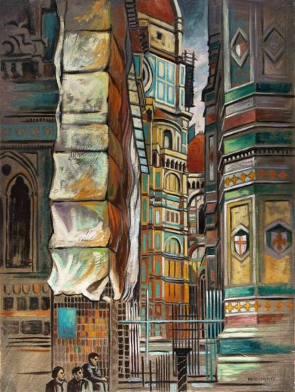 Florence I, huile sur toile, 46x38cm, 2002