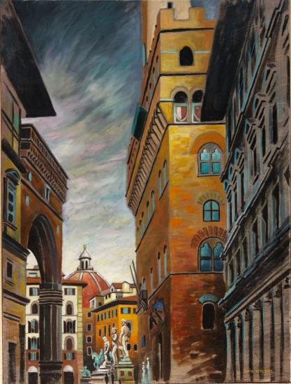 Florence II, huile sur toile, 46x38cm, 2002
