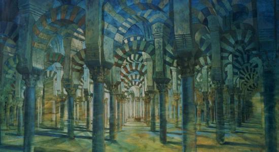 Grande mosquée de Cordoue, huile sur toile, 63x114cm, 2001