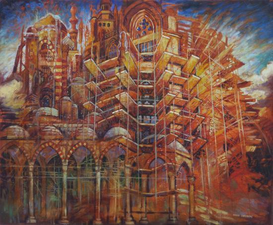 Les villes invisibles I, huile sur toile, 60x73cm, 2012