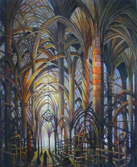 La théologie, huile sur toile, 73x60cm, 2013