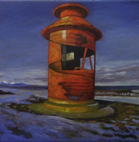 Le phare, huile sur toile, 20x20cm, 2017