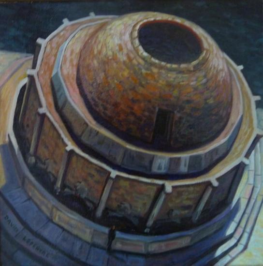 Le trou, huile sur toile, 20x20cm, 2017