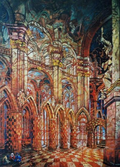 Les trois imposteurs, huile sur toile, 73x60cm, 2003