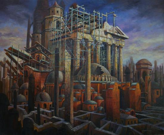 Les villes invisibles, huile sur toile, 60x73cm, 2015