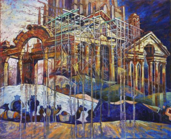 Palais dans le désert, huile sur toile, 60x73cm,2008