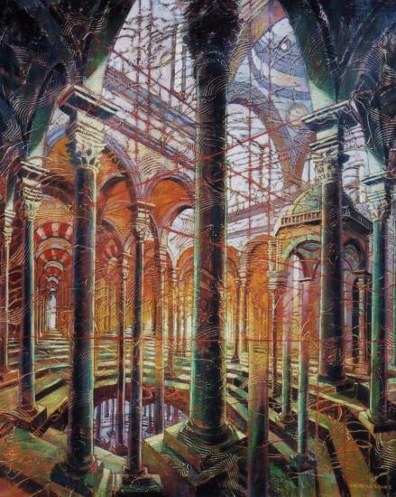 Palais, huile sur toile, 73x60cm, 2002