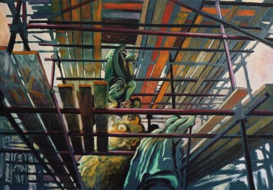 Prague, huile sur toile, 50x42cm, 2002